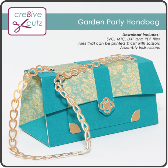 Paper purse or handbag 3D Paper crafting Project for Cricut and Silhouette
