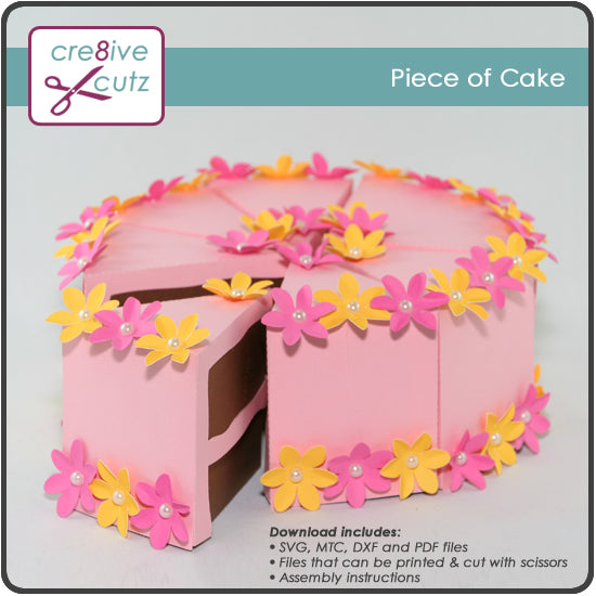 Piece of Cake Gift Box - FREE Craft Project