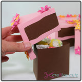 Free Paper Craft Project - 3D Piece of Cake Gift Box - Party favors