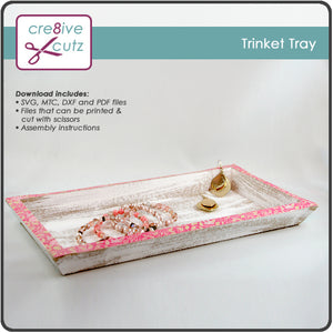 3D DIY home decor tray made from paper, Cricut compatible SVG