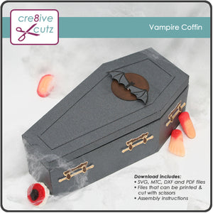 Vampire Coffin 3D Papercrafting Pattern