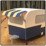 Front view of vintage camper 3D SVG cutting file