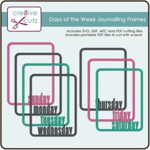 Days of the Week Journalling Frames