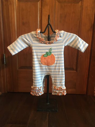 Pumpkin Knit Romper