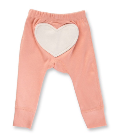 Sapling Peach Blossom Heart Pants