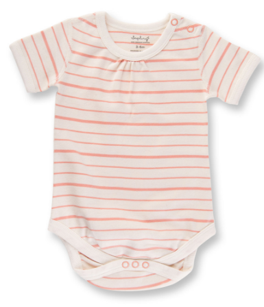 Sapling Peach French Stripe Bodysuit