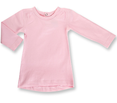 Sapling Heather Pink Long Sleeve Tee