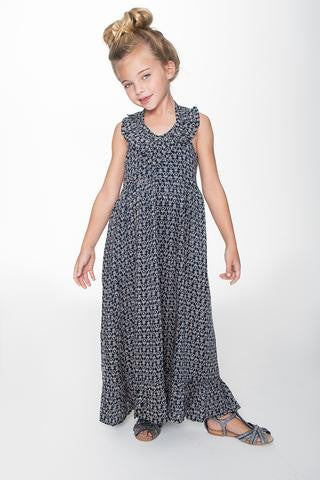 Yo Baby Navy Halter Maxi Dress