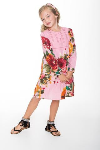 Yo Baby Pink Vintage Rose Dress
