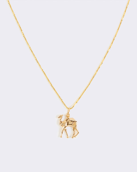 Camel Pendant Necklace
