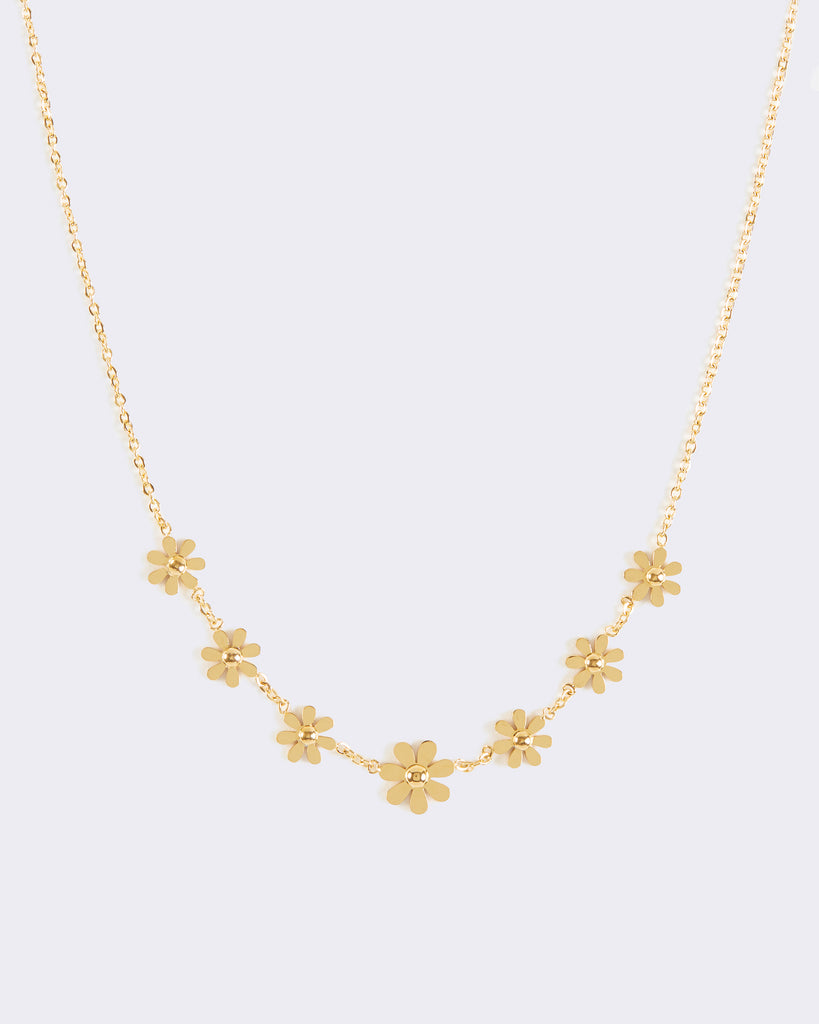 Gold Daisy Chain Necklace