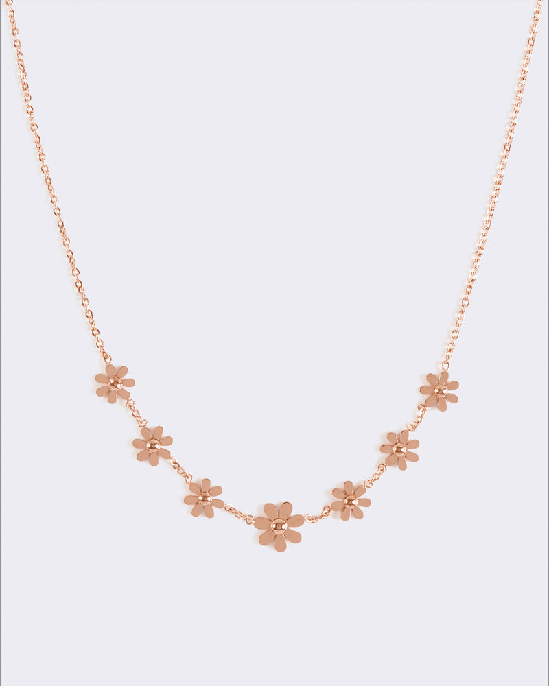 Rose Gold Daisy Chain Necklace