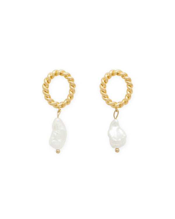 Twist Pearl Earrings