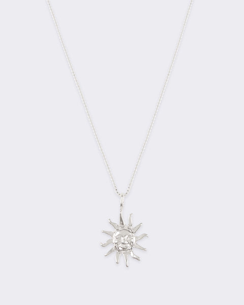 Silver Sun Charmer Necklace