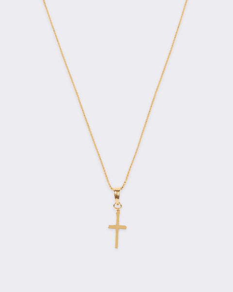 Simple Cross Charm Necklace