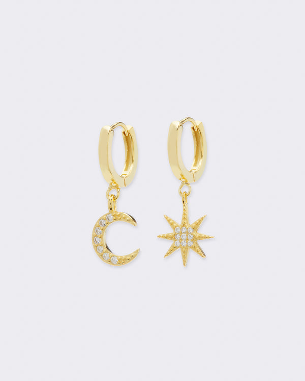 Mini Star & Moon Hoops