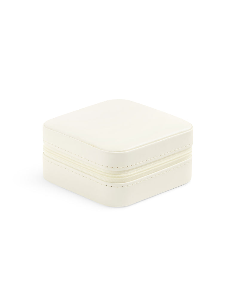 Travel Jewellery Case - White