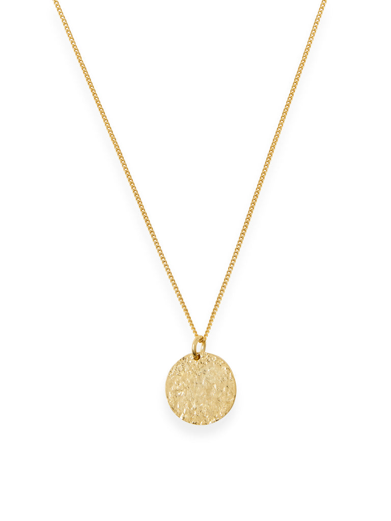 Textured Coin Necklace