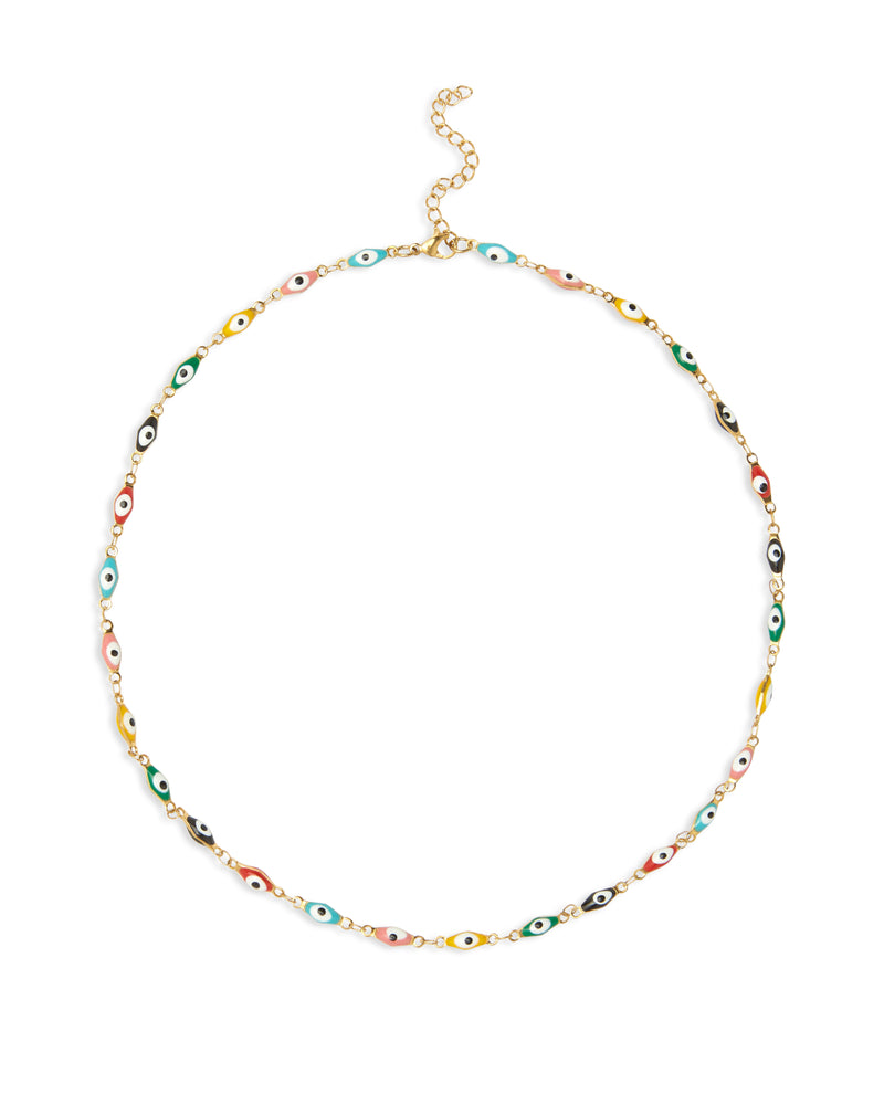 Evil Eye Necklace - Rainbow