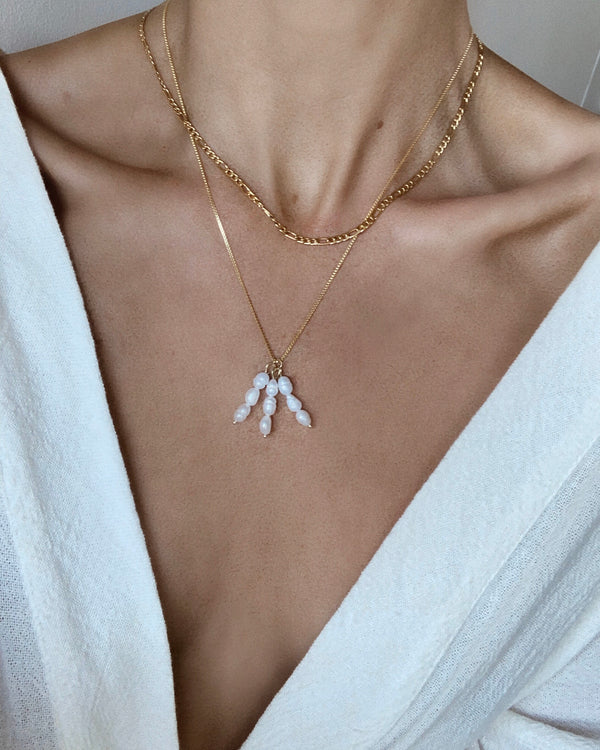 Tri-Drop Pearl Necklace