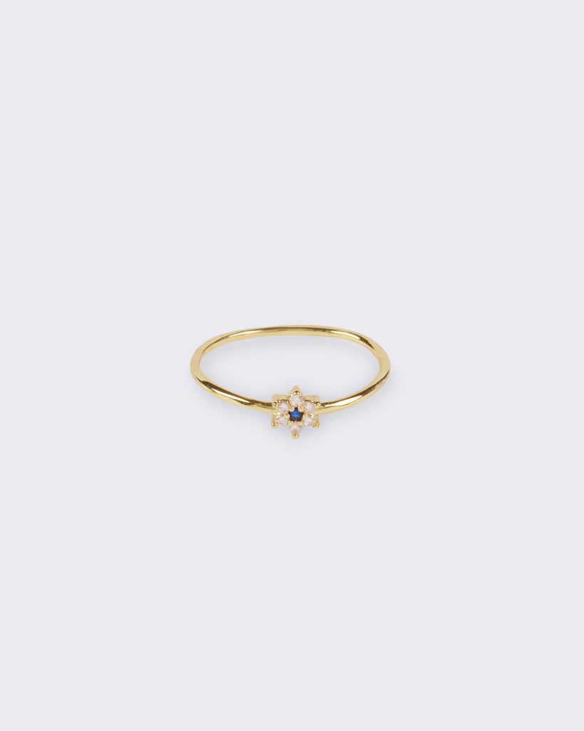 Midnight Flower Ring
