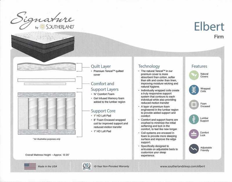 Mattress_Elbert Firm Queen Mattress_sleep-bargains