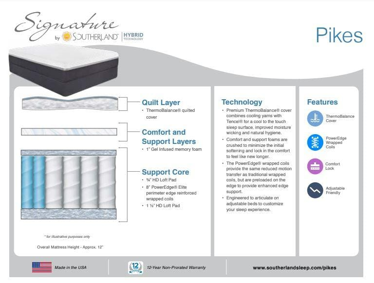 Mattress_Pikes Hybrid Twin Mattress_sleep-bargains