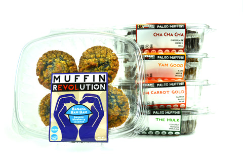 Muffin Revolution Grocery 4-Pack Wholesale Paleo Grain-Free Superfoods Gluten-Free