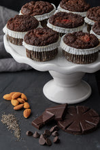 Load image into Gallery viewer, Muffin Revolution Chocolate Cherry paleo muffins Gluten-Free