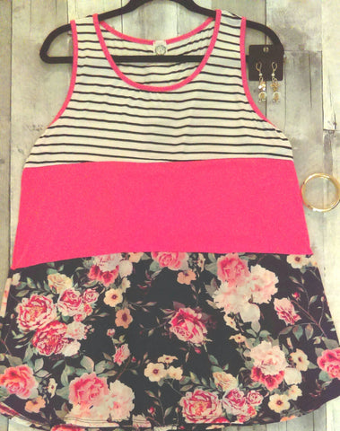 Casual Floral Top (L)