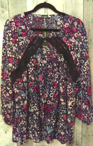 Floral Print Lace Top (XL)