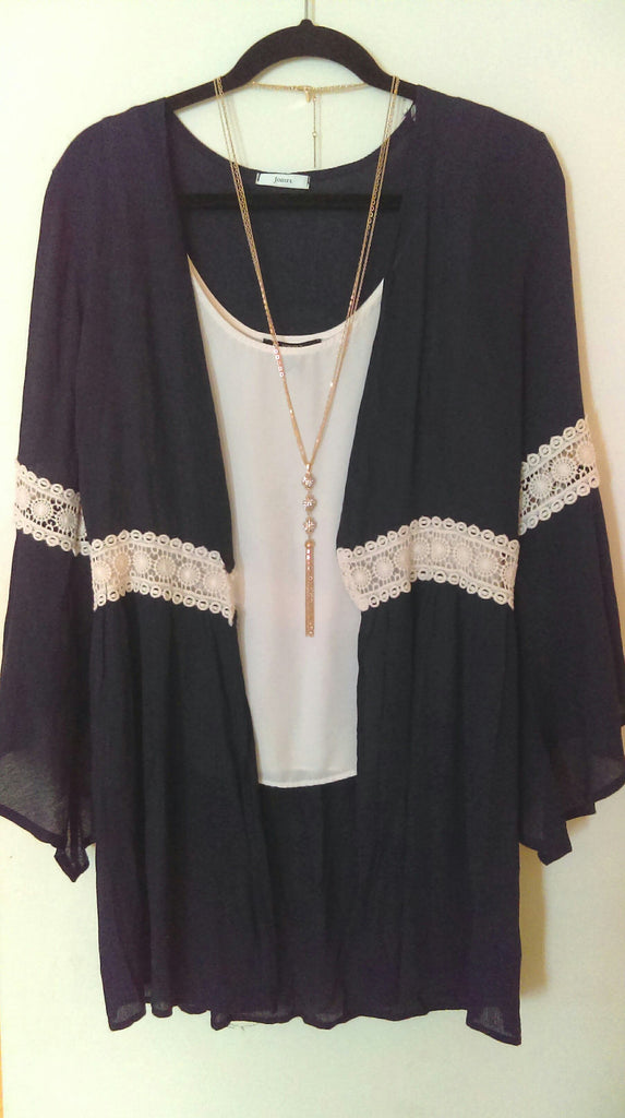 Bohemian Lace Detail Wrap S