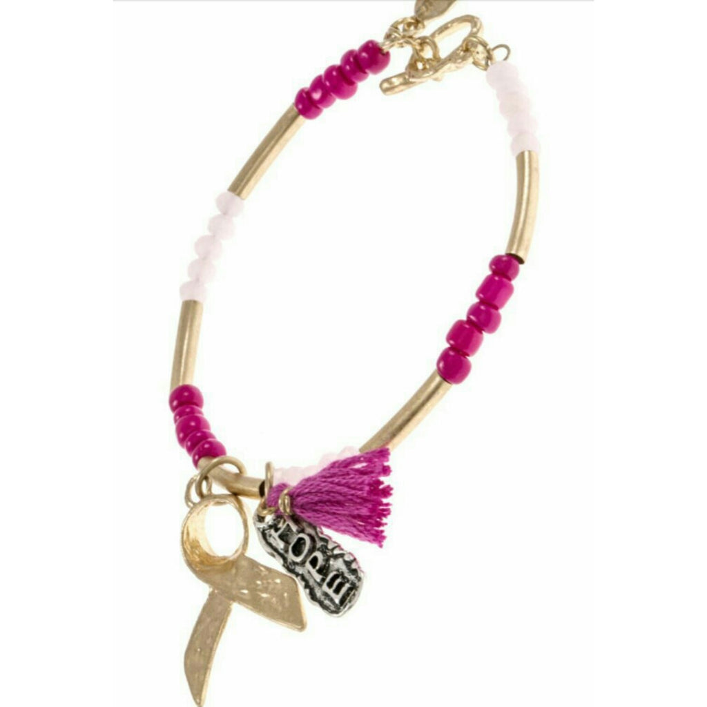 Pink Beaded Hope BCA Bracelet