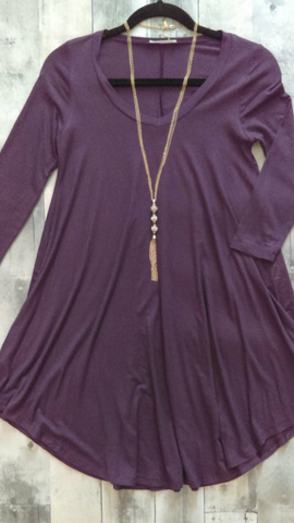 Fall Purple Swing Dress (S)