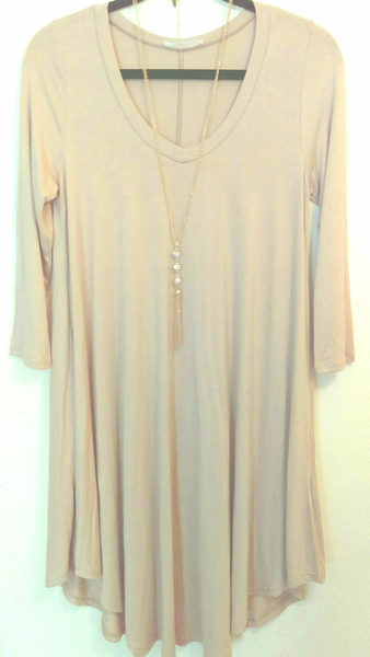 Long Sleeve Tunic Dress L