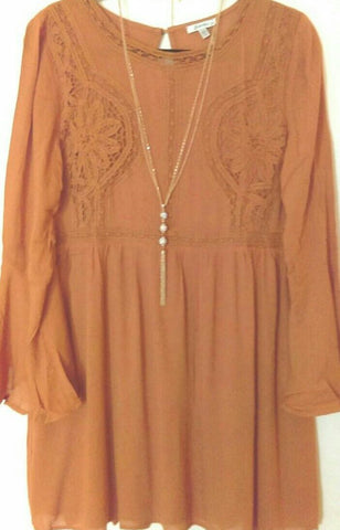 Fall Burnt Orange Dress (L)