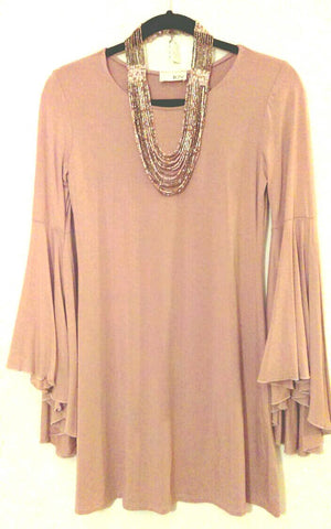 Long Sleeve Boho Dress (M)