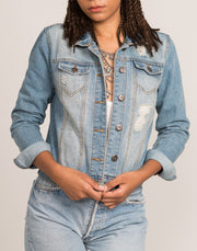 100% cotton women's denim jacket