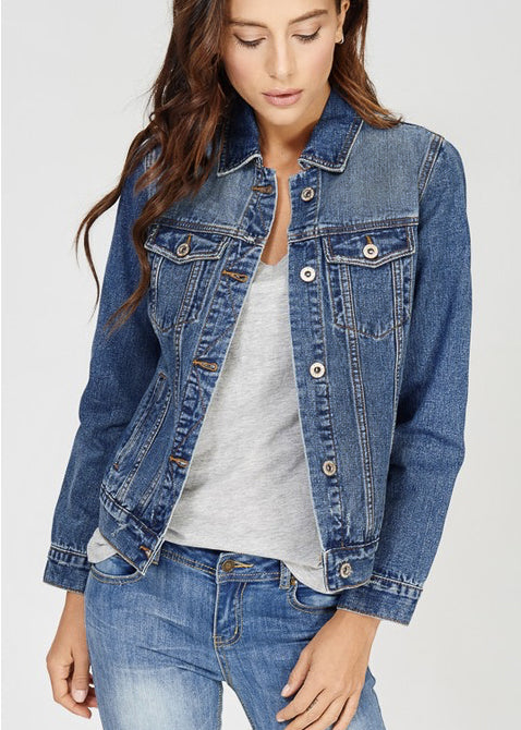 women's bridal denim jacket 100% cotton