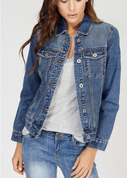 women's denim jacket medium vintage wash