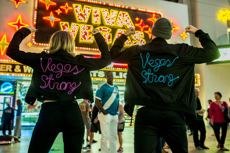 Vegas strong black jackets that light up with 3 modes