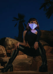 fiber optic unisex light up face mask