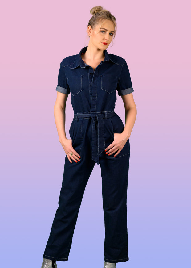 Women's denim boiler suit
