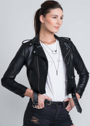 Electric Lips Vegan Leather Jacket