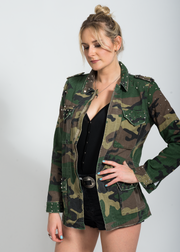 studded camo jacket for women