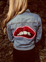 Electric Lips Denim Jacket