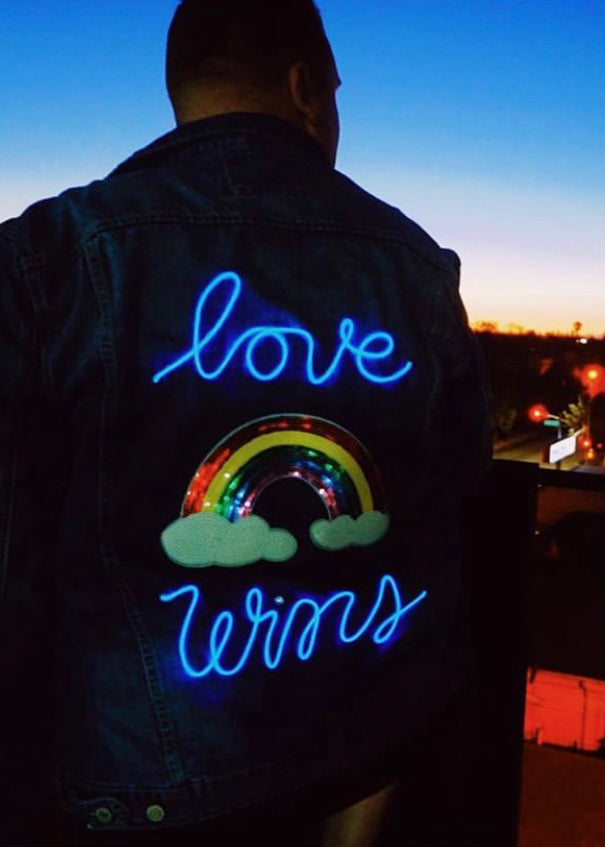 Love Wins Denim Jacket