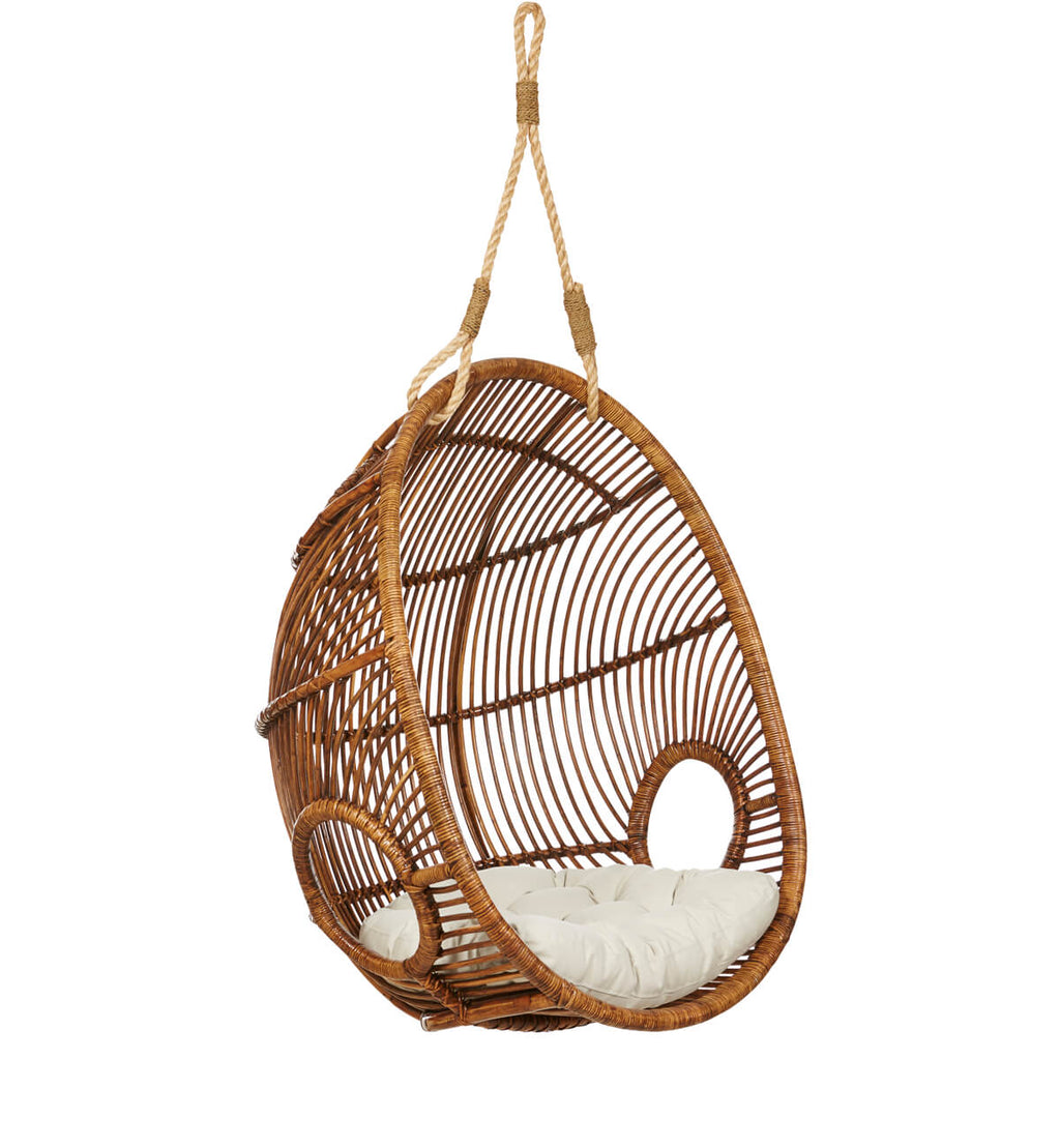 Picture of: Fenton Fenton Rattan Hanging Chair The Coconut
