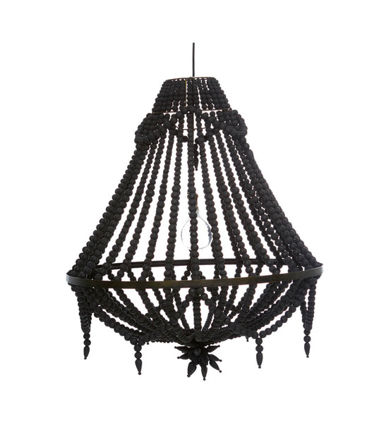 open products chandelier black wooden style fenton beaded large white