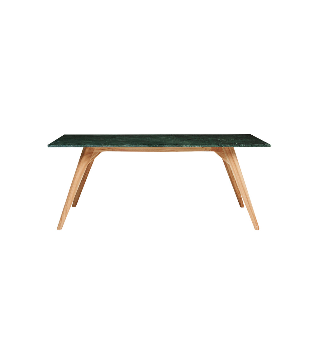 Fenton Fenton Woodrow Rectangle Marble Dining Table In Green